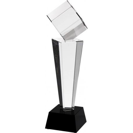 Trofeum szklane z etui C004