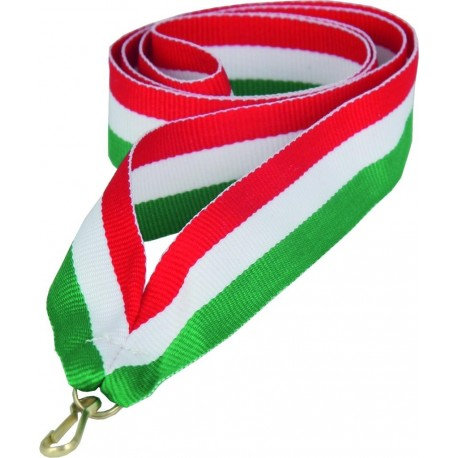 """Wstążka do medalu - """"Czerwona-biało-zielona"""" 22 mm - V2-R/W/GN"""
