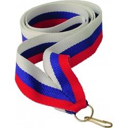 """Wstążka do medalu - """"Biało-niebiesko-czerwony"""" 22 mm - V2-W/BL/R"""