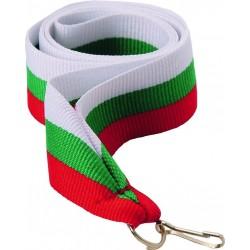 """Wstążka do medalu - """"Biało-zielono-czerwony"""" 22 mm - V2-W/GN/RD"""