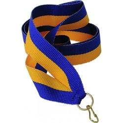 """Wstążka do medalu - """"Żółto-niebieska"""" 22 mm - V2-Y/BL"""