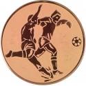 Emblemat samoprzylepny brązowy - piłka nożna - D2-A2/B