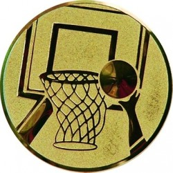 Emblemat samoprzylepny złoty - koszykówka - D2-A8/G