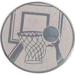 Emblemat samoprzylepny srebrny - koszykówka - D2-A8/S