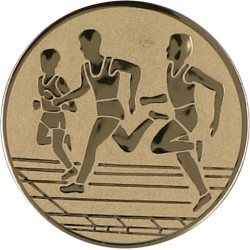 Emblemat samoprzylepny złoty - lekkoatletyka / biegi - D2-A32/G