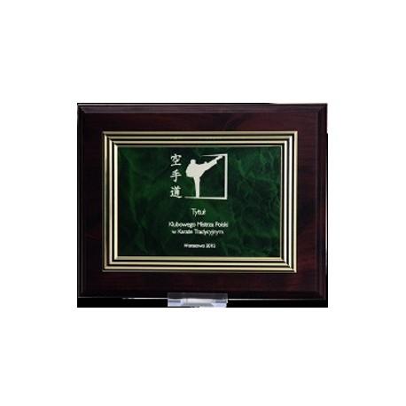 Dyplom drewniany MDF z tabliczką grawerowaną - HG224
