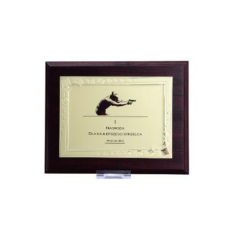 Dyplom drewniany z blaszką i nadrukiem - HG422