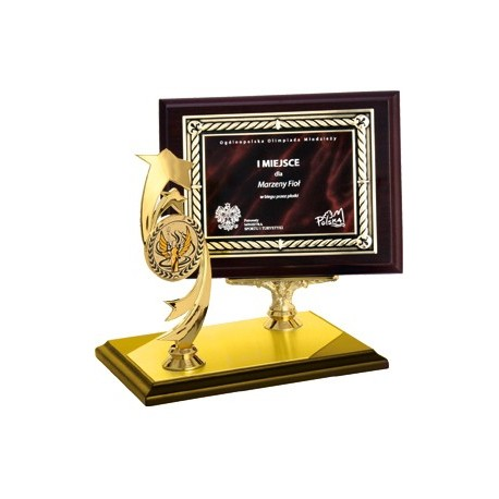 Dyplom drewniany z metalową blaszką i grawerem - HG450/G