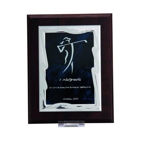 Dyplom drewniany MDF z blaszką grawerowaną - HG84