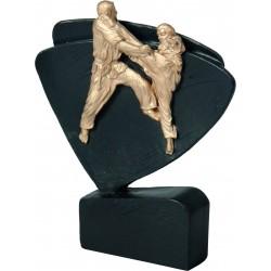 Figurka odlewana- karate -Wersja czarno-złota - RFEL5015/BK/G