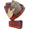 Figurka odlewana - karty -Wersja brązowa - RFEL5025/B/BR
