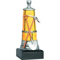Figurka odlewana - górnictwo - lampa, młot i kilof - RFST2048