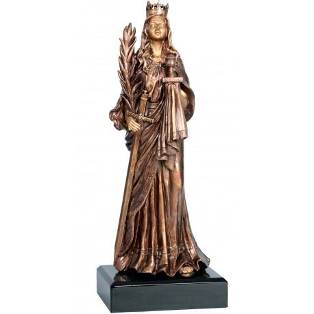 Figurka odlewana - górnictwo - św. Barbara - RFST2058/BR