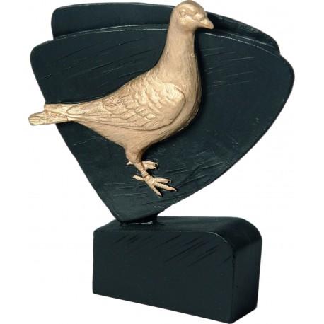 Figurka odlewana - gołąb - Wersja czarno-złota - RFEL5031/BK/G