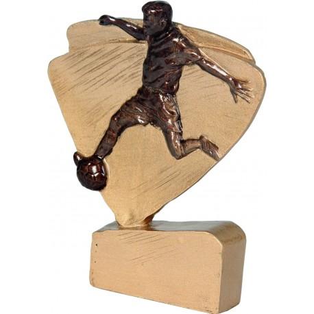 Figurka odlewana - piłka nożna - złoto-brązowa - RFEL5004/G/BR