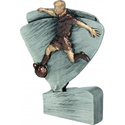 Figurka odlewana - piłka nożna srebrno-brązowa - RFEL5004/S/BR