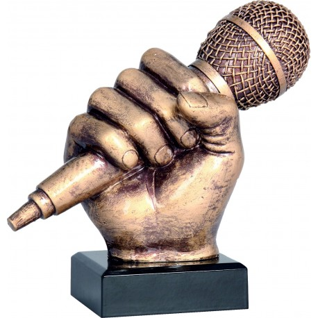 Figurka odlewana - muzyka - mikrofon - RFST2074-14/BR