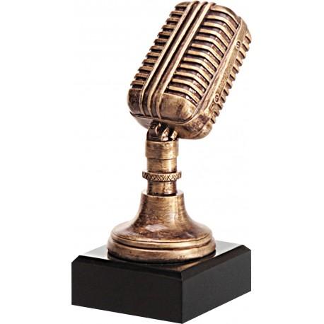 Figurka odlewana - muzyka - mikrofon - RFST2079/BR