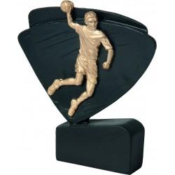 Figurka odlewana -  piłka ręczna czarno-złota - RFEL5009/BK/G