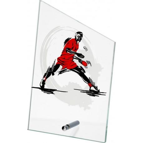 Szkło z dyscypliną - TENIS STOŁOWY SG1020/PIN