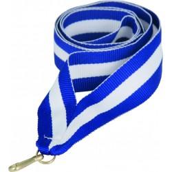 """Wstążka do medalu - """"Niebiesko-biało-niebieska"""" 11 mm - V8-BL/W/BL"""