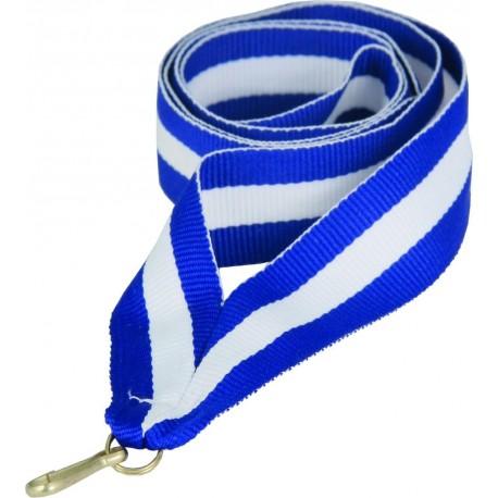 """Wstążka do medalu - """"Niebiesko-biało-niebieska"""" 22 mm - V2-BL/W/BL"""