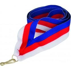 """Wstążka do medalu - """"Niebiesko-czerwono-biała"""" 22 mm - V2-BL/R/W"""