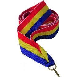 """Wstążka do medalu - """"Czerwony-żółty-niebieski"""" 11 mm - V8-R/Y/BL"""