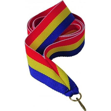 """Wstążka do medalu - """"Czerwony-żółty-niebieski"""" 22 mm - V2-R/Y/BL"""