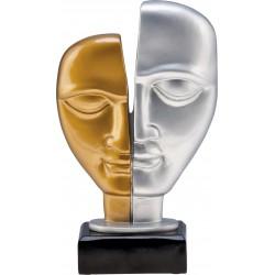 Figurka odlewana - złoto-srebrna - teatr - RFST2093/G/S