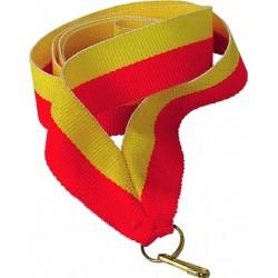 """Wstążka do medalu - """"Żółto-Czerwony"""" 22 mm - V2-Y/R"""