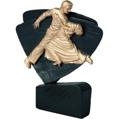 Figurka odlewana - taniec czarno-złota - RFEL5034/BK/G