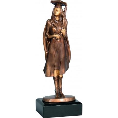Figurka odlewana - szkolnictwo - absolwentka - RFST2055/BR