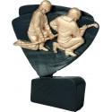 Figurka odlewana - straż pożarna - czarno-złota - RFEL5024/BK/G