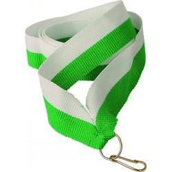 """Wstążka do medalu - """"Biało-zielony"""" 22 mm - V2-W/GN"""