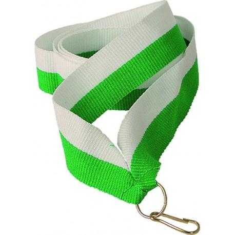 """Wstążka do medalu - """"Biało-zielony"""" 11 mm - V8-W/GN"""
