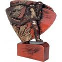 Figurka odlewana - strażactwo - brązowa - RFEL5023/B/BR