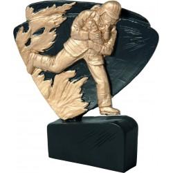 Figurka odlewana - strażactwo  - czarno-złota - RFEL5023/BK/G