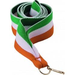 """Wstążka do medalu - """"Zielono-biało-pomarańczowy"""""""
