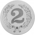 Emblemat samoprzylepny srebrny - PS1-A37/S