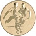 Emblemat samoprzylepny złoty - piłka nożna - D1-A1