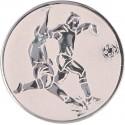 Emblemat samoprzylepny srebrny - piłka nożna - D2-A2/S