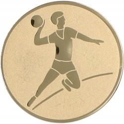 Emblemat samoprzylepny złoty - piłka ręczna - D1-A4