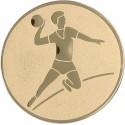 Emblemat samoprzylepny złoty - piłka ręczna - D2-A4
