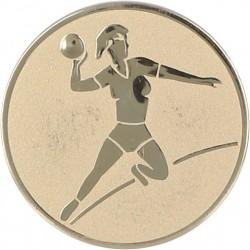 Emblemat samoprzylepny złoty - piłka ręczna - D1-A5