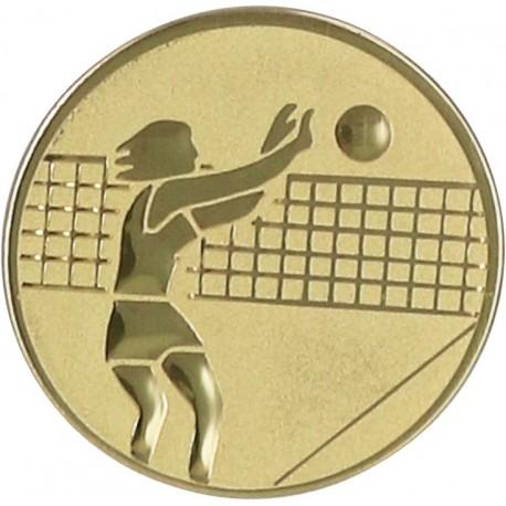 Emblemat samoprzylepny złoty - siatkówka - D1-A7