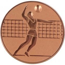 Emblemat samoprzylepny brązowy - siatkówka - D1-A6/B