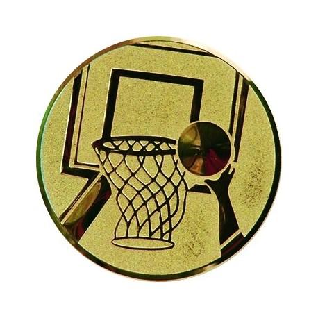 Emblemat samoprzylepny złoty - koszykówka - D1-A8/G