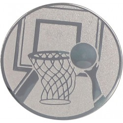 Emblemat samoprzylepny srebrny - koszykówka - D1-A8/S