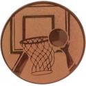 Emblemat samoprzylepny brązowy - koszykówka - D1-A8/B